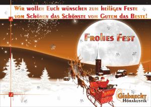 Gisbrecht Hörakustik - Frohes Fest 2014