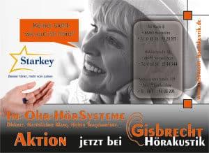 Gisbrecht Hörakustik - Im Ohr Hörgeräte Aktion 2015