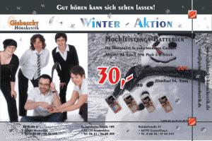 Gisbrecht Hörakustik - Winter Aktion 2014