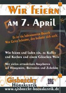 Gisbrecht Hörakustik - Jubiläum April 2014