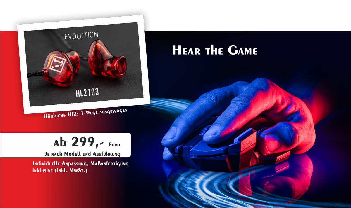 Gisbrecht Hörakustik - Hear the Game - In-Ear Kopfhörer für Gamer