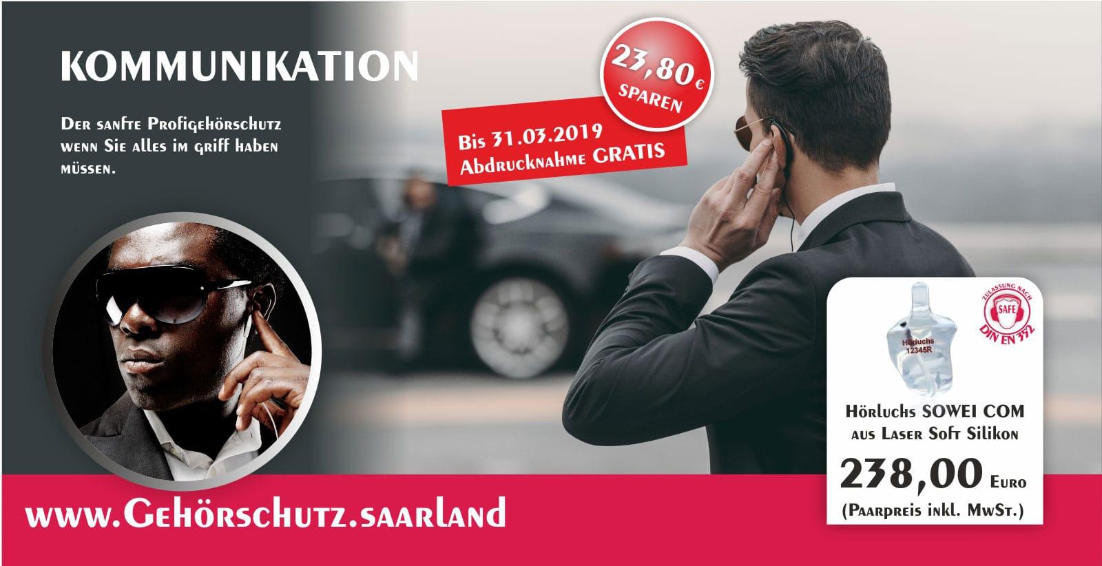 Gisbrecht Hörakustik - Gehörschutz Partner Hörluchs - SOWEI COM Aktion - Gehörschutz für Kommunikation