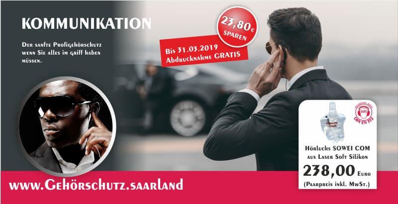 Gehörschutz SOWEI COM Hörluchs - Gisbrecht Hörakustik Saarland - Aktion SOWEI COM Einzeln