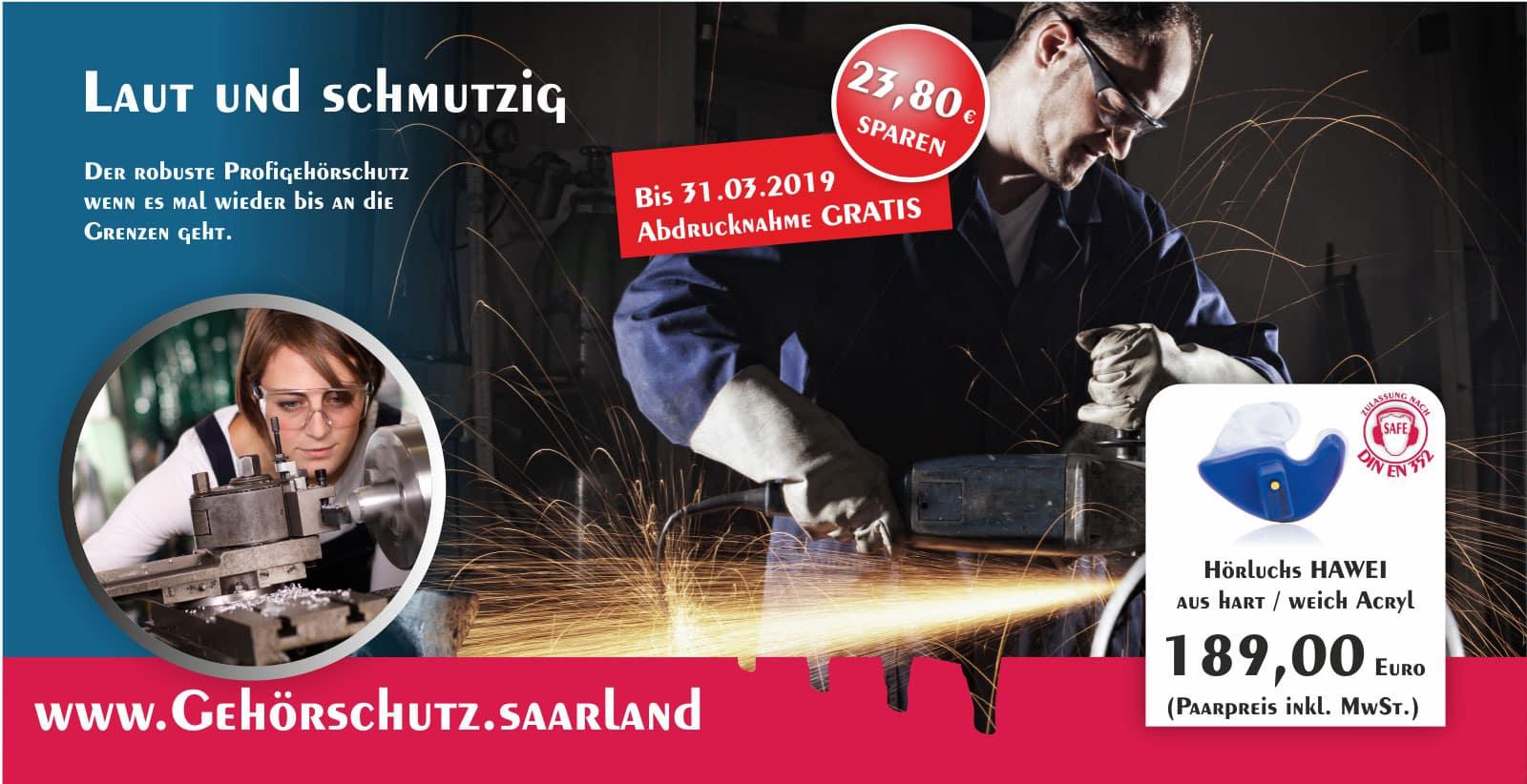Gisbrecht Hörakustik Saarland - Aktion Hörluchs individueller Gehörschutz - HAWEI